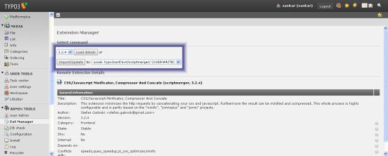 Typo3 4.4 extension update