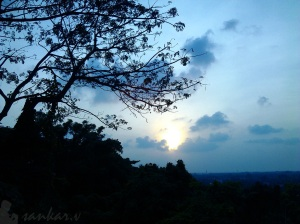 Sunset from Cafe-Planet, Technopark
