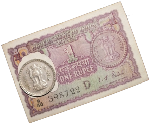One Rupee - Indian Currency